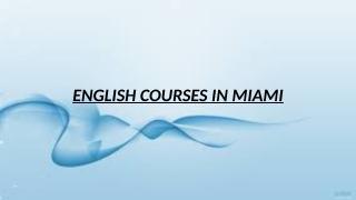 English Courses In Miami.pptx