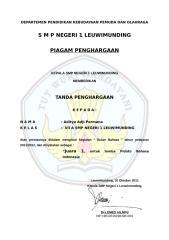 CONTOH PIAGAM PENGHARGAAN PEKAN BAHASA DAN SENI.doc