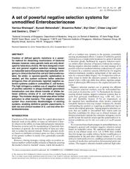 negative selection markers for  E coli NAR 2016.pdf