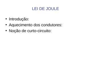 5 Lei de Joule.ppt