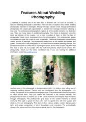 Features About Wedding Photography.docx