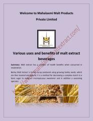 Barley malt extract, malted milk food in India - mahalaxmimaltextract.pdf