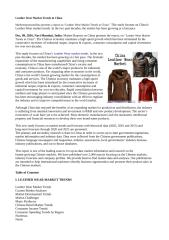 Leather Wear Market Trends in China.doc
