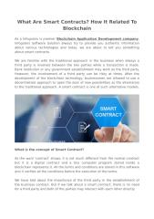 What Are Smart Contracts_ How It Related To Blockchain.pdf