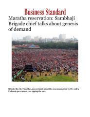 Maratha reservation- Sambhaji Brigade chief talks about genesis of demand.pdf