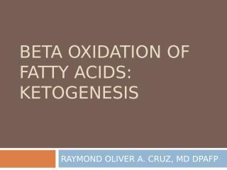 OXIDATION OF FATTY ACIDS.ppt