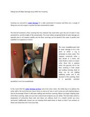 Taking Care Of Water Damage Issues With Your Covering.docx