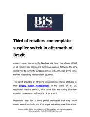 Third of retailers contemplate supplier switch in aftermath of Brexit.pdf