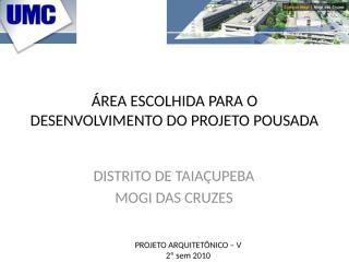 área para projeto Pousada.pptx