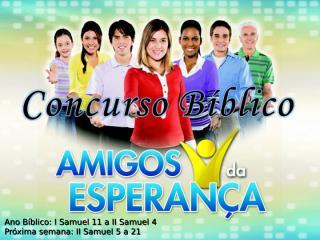 Concurso Bíblico 2011 - 13.ppt