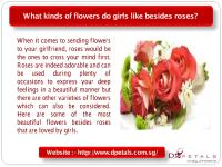 What kinds of flowers do girls like besides roses.pdf