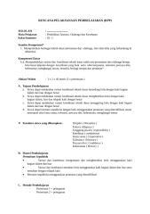RPP PJOK Berkarakter SMP Kelas IX sms 1.doc