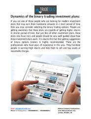 Dynamics of the binary trading investment plans.pdf