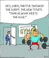 Cartoon Thor Wimp Hulk gif